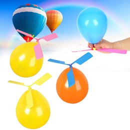 Helicopter Toys NZ - Balloon Aircraft Helicopter For Kids Party Filler Flying Toy Gift Colorful Party Decoration Handcrafted Students Color Random