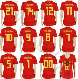 $enCountryForm.capitalKeyWord NZ - Women Belgium Soccer Jerseys 10 E.HAZARD 9 LUKAKU 8 FELLAINIDE BRUYNE COURTOIS MERTENS MIGNOLET Home Red Custom Girls Ladies Football Shirts