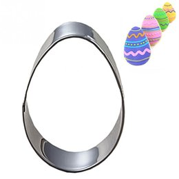 Baking Mousse Ring UK - Stainless Steel Circle Mousse Ring Baking Tool Cake Mould Bakeware Easter Egg cookie cutter mold