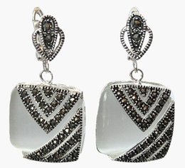 Marcasite chandelier earrings canada best selling marcasite marcasite chandelier earrings canada latest fancy ladys 925 silver hook clear opal marcasite square earrings aloadofball Image collections