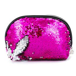 $enCountryForm.capitalKeyWord UK - Mermaid Sequins Women Shell Cosmetic Handbags Portable Make Up Brush Toiletry Bag Travel Purse Pouch Makeup Organizer Case Bag