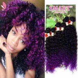$enCountryForm.capitalKeyWord NZ - Smart 6pcs Pack marley twist Synthetic hair weaving bundles ombre jerry curly human hair extension High temperature fiber uk us