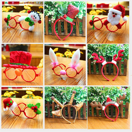 cloth toys patterns 2019 - Christmas head buckle Glasses Frame Multi-pattern Santa Claus Snowman Deer Bear Decoration for Kids Children Gift Christ