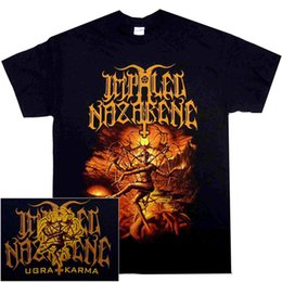 cheap shirts for sale NZ - Impaled Nazarene Ugra Karma Shirt S M L X Black Metal T-Shirt Cheap Sale 100 % Cotton T Shirt for Boys Chinese Style