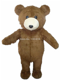$enCountryForm.capitalKeyWord UK - MASCOT Lovely Long Hair Plush Brown Bear Mascot Costume Adult Size Bear Mascotte Suit Fit Fancy Dress Free Ship