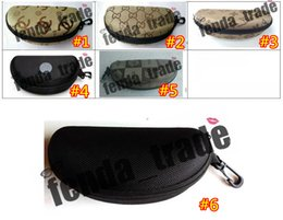 2230a88d2d Fibra portátil colorida cubierta gafas de sol caso para mujeres caja de  vidrios con cremallera gafas