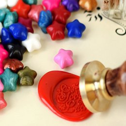 $enCountryForm.capitalKeyWord Australia - 100pcs Star shape Vintage Sealing Wax Tablet Pill Beads for invitation card letter wax seal stamp scrapbooking Wedding supplies