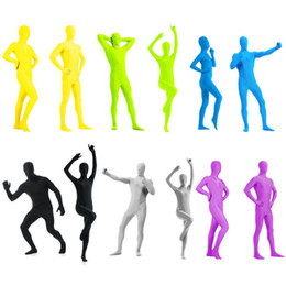 Lycra Spandex Costume Costume Costume Zentai Party Body Tight Bright Sélectionner la couleur