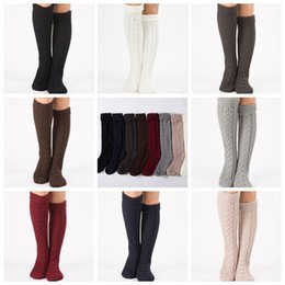 91dbbbe732604 8 Colors 2pcs pair Winter Over Knee Socks For Women Girls Leg Warmer Soft  Knitting Crochet Socks Female Thigh High Socks CCA10383 30pairs