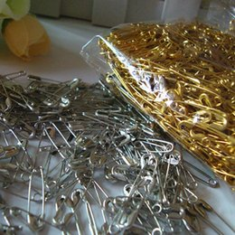 sew clothes accessory Canada - Gold Silver Small Safety Pins DIY Mini Buckle Pin Clothes Stainless Steel Tool Needles Accessories for Needlework Sewing 1000pcs set