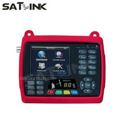 Toptan satış 3.5 inç LCD SATLINK WS-6950 DVB-S uydu bulucu satlink bulucu metre WS6950 satfinder tek bulucu metre ücretsiz kargo