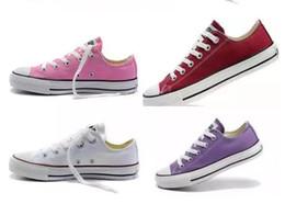 Ingrosso 2019 Drop Shipping New Unisex Low-Top High-Top per adulti scarpe da uomo per donna 15 colori Laced Up scarpe casual Sneaker scarpe scarpa