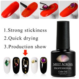 Wholesale MEET ACROSS Nail Decoration Adhesive Glue Gel ml Fast dry for Rhinestone Transparent Manicure Crystal Nail Art Polish Tools