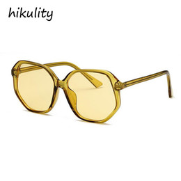 d185aed0cd7c Oversized Candy Yellow Sunglasses Women 2018 Luxury Vintage Ocean Green  Ladies Shades Purple Unique Sun Glasses Female