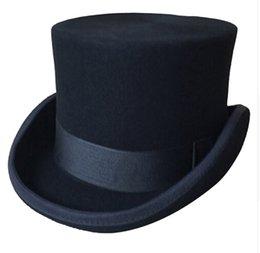 Halloween Cosplay Magician Magia Caps Steampunk Top Sombreros de lana para  mujeres Hombres Fedora británica Masquerade 81a571a3ae8