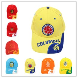 0eb4fb2b783 World Cup Football ball Cap 2018 Russia FIFA Player baseball Caps Fans  gifts Hats Brazil team logo hat Soccer Fans Souvenir sunhat best