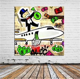 Großhandel Flugzeug Graffiti-Kunst, Leinwand Gemälde Wohnzimmer Home Decor Modern Wandbild Kunst Ölgemälde