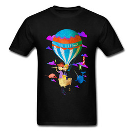 Long air baLLoons online shopping - 2018 Celestial Light T Shirt Design Mans Party Tee Shirt For Sale Cartoon Hot Air Balloon Print Black Short Sleeve Clothing