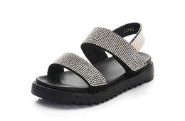 Chinese  2018 new Korean girls sandals summer fashion student girls big children rhinestone shoes children princess shoes manufacturers