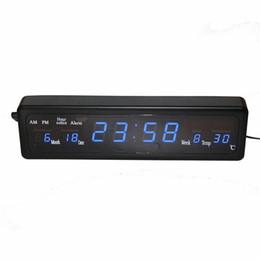 70f654667d2e Reloj de pared despertador electrónico Reloj despertador electrónico Reloj  de pared LED con calendario de temperatura Reloj despertador electrónico  Home ...