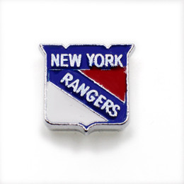 York Necklace Australia - New Enamel New York Rangers Slide Charms 8mm Metal Slide Dangle Charm For Necklace Bracelet Keychain Pet Collar Jewelry Making