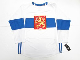 48c56907c Cheap custom TEAM FINLAND WHITE 2016 WORLD CUP OF HOCKEY PREMIER HOCKEY  JERSEY stitch add any number any name Mens Hockey Jersey XS-5XL