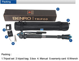 tripod camera 2019 - Benro A49TDS4 Sport Bird Watching Series Monopod Kit Tripod Suit For Video DSLR Camera Recorder Support Frame Wholesale