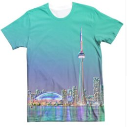 Tower Short Sleeve Canada - Unisex Casual Short Sleeve Tee Toronto view 3D Printed T-Shirt Summer Slogan Tower Harajuku Tops Aesthetic fashion Camisetas U435
