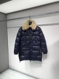 Женщины Зимняя Куртка Дамы Реальный Лисий Мех Воротник Утка Вниз Внутри Теплое Пальто Женское Длинное Пальто 812 на Распродаже