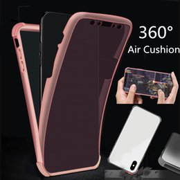 Tpu Full Body Case Australia - 2019 Christmas Gift 360 Full Body TPU phone Case Front Back Transparent Shockproof Air Cushion Soft Cover for iphone X XS MAX XR 8 6 7 plus