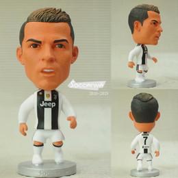 Soccerwe figurine football stars 2019 JUV Cristiano Ronaldo 7 # Giunti mobili in resina modello giocattolo da collezione action figure bambole