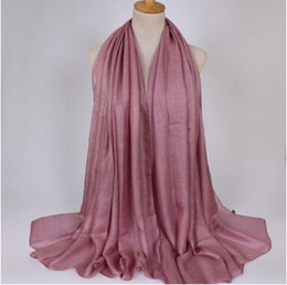 Linen scarves musLim online shopping - Soft linen shawl silk plain shawls hijab spring big size spring muslim headband wrap Sunscreen scarf Beach Scarves cm