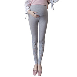 Discount pregnant woman clothing winter - 2018 Pregnant Leggings Winter Maternity Pants Women Pregnancy Clothes Maternity Pregnancy Pants Belt Leggings for Pregna