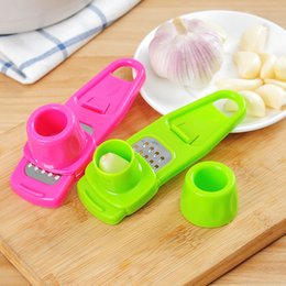 Mini Slicer Cutter Australia - New Arrive Candy Color Garlic Press Multi-functional Grinding Garlic Mini Ginger Grinding Grater Planer Slicer Cutter Kitchen Tools