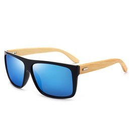 1c7cd631e5 AHW02 Gafas de sol de bambú para hombre Gafas de sol al por mayor  Rectángulo plano plano Marco de Placitc con templo de madera CE BOTERN.com  EYEWEAR