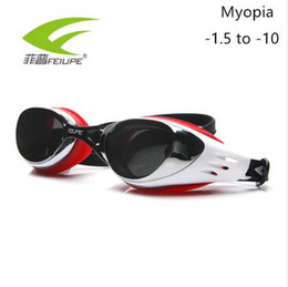 916883233ab FEIUPE Myopia Swim Goggles Swimming Diopter Glasses Anti Fog UV Protection  Optical Waterproof Eyewear for Men Women Adults Sport