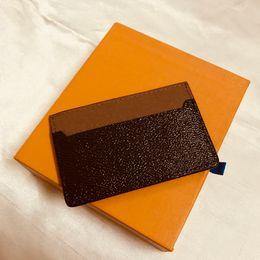 M61733 França Designer de Luxo Mulheres Homens Cartão Titular Mono Gram Canvas Marrom Checkered Black Praid Couro de lona Frete grátis de boa qualidade em Promoção