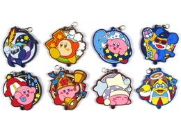 Discount japanese phones - Kirby Original Japanese anime figure rubber Silicone sweet smell mobile phone charms key chain strap D163
