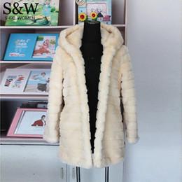 $enCountryForm.capitalKeyWord NZ - 2016 Winter Women's Rabbit Fur Coat With a hood Medium-long Warm Thick Plus Size XXXL 4XL 5XL Striped Faux Fur Coats Overcoat