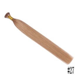 Chinese  Russian Human Hair Straight Stick I Tip Pre-Bonded Hair Extensions #60 #27 Blonde Human Hair Extensions FDSHINE manufacturers