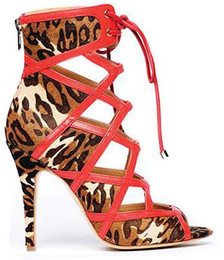 Chinese  2018 Luxury catwalk high quality Color woven leather high heels ankle strap stiletto sandals Cross leather fashion shoes manufacturers