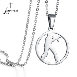 $enCountryForm.capitalKeyWord NZ - Letdiffery Gold Silver CS Go Round Pendant Necklace Counter Strike Stainless Steel Chain Necklaces Men Women Fashion Jewelry