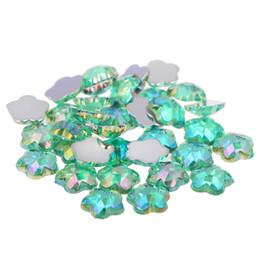 Light green AB Acrylic Craft DIY Gems Flatback Earth Facets AB colors Acrylic  Rhinestone Strass High Shine Nail Art Decorations 12acc1c71025