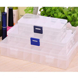 chinese wholesale shoes 2019 - New Plastic 10 Slots Compartment Jewelry Necklace Storage Box Case Craft Organizer Container,hot selling cheap chinese w