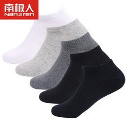 c5dd5eb1738 5pairs lot Men Cotton Ankle Short Socks Casual Wear 42 43 44 45 46 47 48 Plus  Size Comfortable Breathable Soft Solid Color Socks
