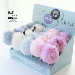 Gel pen paper online shopping - 0 mm Big Warm Ball Plush Pendant Gel Pen Ink Pen Promotional Gift Stationery School Office Supply