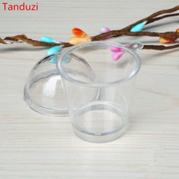 Japanese arts crafts online shopping - ecoration Crafts Figurines Miniatures Tanduzi Japanese Kawaii Plastic Round Tiramisu Mousse Clear Cup With Cover Artificial Parfait
