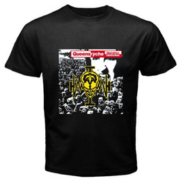 $enCountryForm.capitalKeyWord NZ - Men Fashion New QUEENSRYCHE Operation Mind Crime Rock Band Men's Black T-Shirt Size S to 3XL Plus Size Casual Clothing