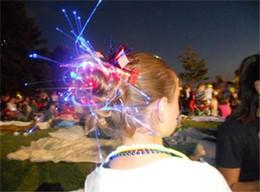 $enCountryForm.capitalKeyWord Australia - Luminous Light Up LED Hair Extension Flash Braid Party girl Hair Glow by fiber optic For Party Christmas Halloween Night Lights Free DHL