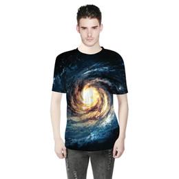T Shirt Digital Printing Sport UK - 2018 Summer Fashion Men Wear Whirlpool Star 3D Digital Print T-shirt Short Sleeved Men Sports Bottoming Shirts A0304